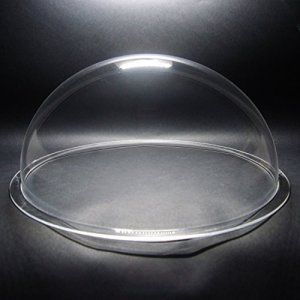 DURADOM Acrylique dôme avec bordure Plastique Transparent Hémisphère – Multi Utilisation à bulles pour animal domestique Chien fenêtre de clôture de la Sphère CCTV Caméra dôme 14 inch / 350mm