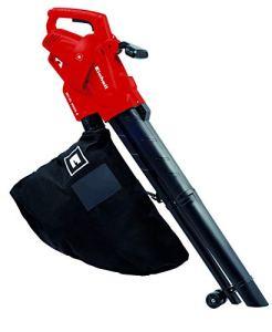 Einhell Aspirateur-Souffleur électrique GC-EL 2500 E (2500 W, Régime 7.000 à 13.500 trs/min, Puissance d'aspiration 650 m³/h, Sac de ramassage 40 l, 2 roulettes de guidage, Sangle de portée réglable)