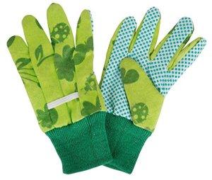 Esschert Design – Gants de jardinage KG10 avec noppes – enfant – vert – env. 11 x 0,9 x 20 cm