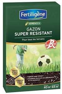 Fertiligene Gazon Super Résistant Label Rouge, 40m²