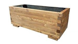 Jardinière rectangulaire en bois jardin terrasse balcon interieur exterieur 100 x 40 x 45 cm également disponible sur mesure!