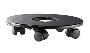 LECHUZA 19880 Support à roulettes Classico Color Quadro Premium LS 43 Noir, Plastique Haute Qualite, 20cm x 25m