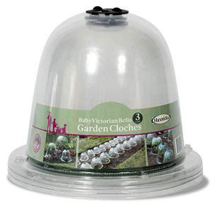 Lot de 3 cloches de jardin victoriennes transparentes Haxnicks Bell050101 Bébé 25 x 20 cm transparent