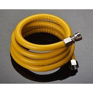 MXJ61 304 Tuyau à gaz en acier inoxydable Tube ondulé Cuisinière à gaz Chauffe-eau Gaz naturel Tuyau en métal G1 / 2 ( taille : 5m )