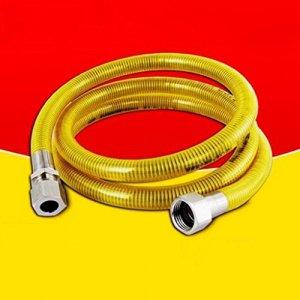 MXJ61 304 tuyau en acier inoxydable tuyau de gaz naturel gaz poêle à gaz chauffe-eau en métal ondulé tuyau de 5 m ( Couleur : Jack+jack )