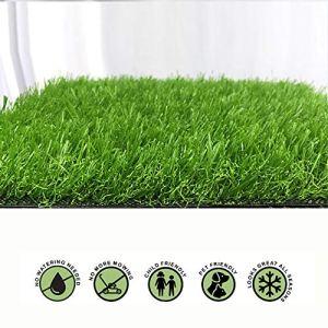 NINGWXQ Pelouse Synthétique de Qualité Supérieure, Jardin Micro Paysage Ornement Pet Dog Turf Tapis, Gazon Artificiel Réaliste Intérieur/Extérieur (Color : Green 30mm, Size : 2x7m)