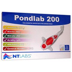 NT Labs Pond Pondlab 200 Kit de Test de l'eau pour bassin à koï de Nitrite Kit Test d'ammoniaque PH