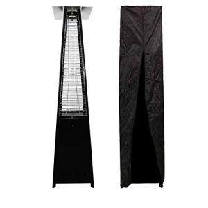 Parasol chauffant gaz STOCKHOLM 13kW acier noir + housse de protection