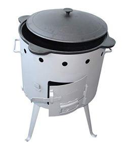 rukauf Utschak, diamètre : 44 cm, pour Cuisines en casan/Jantes, Chaudron en Fonte pour l'extérieur
