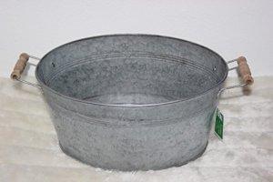 Unbekannt Zinc Baignoire Baignoire ~ 1892~ Style Rustique à Planter Pot pour Plantes, Pot pour Plantes