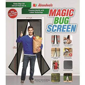 XiaoMall Rideau magnétique en Maille pour Porte Motif Insectes