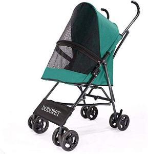 ZXCC Chariots pour Chiens Poussette Chat Animaux, Pliant Chariots de Voyage pour Chiens de Petites et Moyennes Entreprises, la capacité de Chargement maximale 15 kg,Green