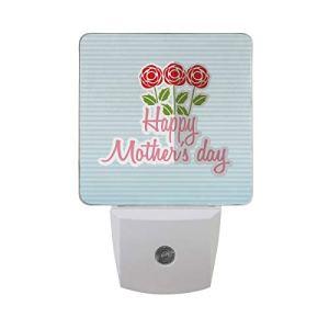 AOTISO Conception de la fête des mères heureuse avec des fleurs roses en fleurs sur des rayures bleues