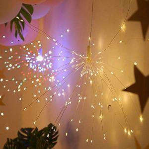 Asdomo Guirlande lumineuse pour feu d'artifice, 160 LED en cuivre pour décoration de Noël