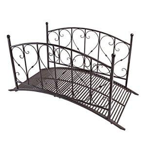 Design Toscano dc120931Le Pont des Amants en métal Jardin