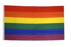 DRAPEAU ARC-EN-CIEL 150x90cm – DRAPEAU GAY – RAINBOW FLAG 90 x 150 cm – DRAPEAUX – AZ FLAG