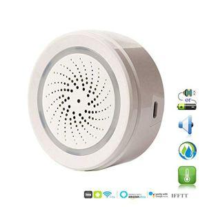 ECOOLBUY Smart WiFi Capteur d'humidité de la température intérieure et extérieure intérieure Compatible avec Alexa Google Accueil IFTTT pour la Maison Maison Serre sous-Sol Garage