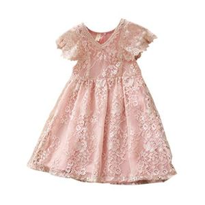 Filles Bébé Robes Princesse Dress Patchwork de Dentelle Solide Dress Girls Skirt Deguisement Enfant Jupe Tutu Anniversaire Fête