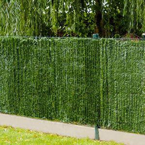 Gardenode Haie Artificielle Thin en Rouleau de 3 mètres – H 1m80-90 brins