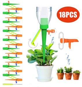 Hidreamz 18 Pics Irrigation Goutte à Goutte Kit, D'arrosage Automatiques pour Plantes en Extérieur et Intérieur