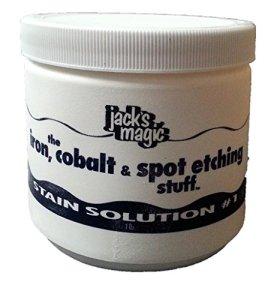 Jack Magic taches de solution # 1le fer à repasser, Cobalt et spot Etching Stuff, 0,5kilogram