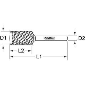 KS Tools 516.1414 – Poignée d'entraînement en T – 3/8″x 3/8″ – Noir/Chromé