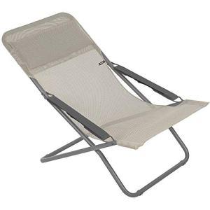 Lafuma Chaise longue, Pliable et réglable, Transabed, Batyline, Couleur: Seigle, LFM2863-8548