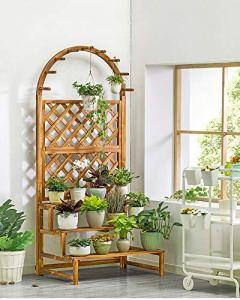 LLHAI Support de Stockage de Support de Pot de Fleur de Plante, présentoir de Plante en Pot, Supports de Fleur de Balcon de Patio de Jardin étagères de Plante,Big
