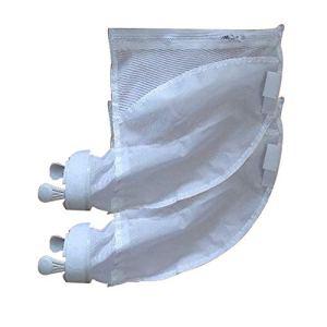 Lot de 2 ou 4 sacs filtrants pour piscine – Ouverture zippée – Filet fin – 10 x 10 x 9 cm