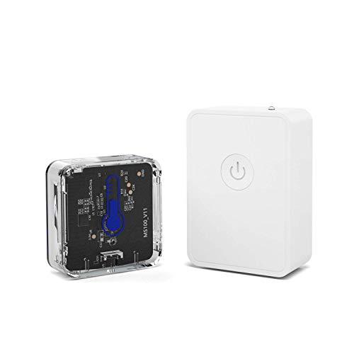 meross Capteur Moniteur de Température et d'Humidité Intelligent (avec HUB), Thermomètre et Hygromètre Compatible avec App, Moniteur en Temps Réel WiFi pour Les Intérieurs et Les Caves, Hub Requis