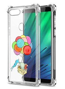 Oihxse Crystal Coque pour Xiaomi Mi 9 Se Transparent Silicone TPU Etui Air Cushion Coin avec Motif [Elephant Lapin] Housse Antichoc Protection Bumper Cover (A16)