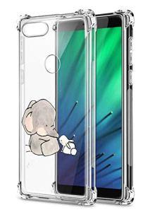Oihxse Crystal Coque pour Xiaomi Mi CC9/Xiaomi Mi 9LITE Transparent Silicone TPU Etui Air Cushion Coin avec Motif [Elephant Lapin] Housse Antichoc Protection Bumper Cover (A14)