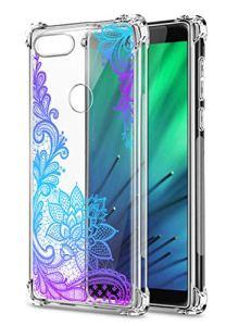 Oihxse Transparent Coque pour Xiaomi Redmi 6 Pro/A2 Lite Souple TPU Silicone Protection Etui Air Cushion [Shock-Absorption] [Anti-Rayures] Fleurs Motif Housse Bumper (B8)
