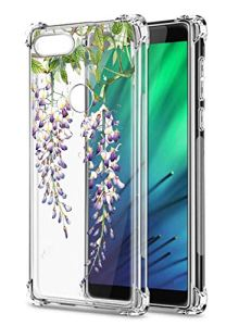 Oihxse Transparent Coque pour Xiaomi Redmi K30/K30 Pro Souple TPU Silicone Protection Etui Air Cushion [Shock-Absorption] [Anti-Rayures] Fleurs Motif Housse Bumper (B12)