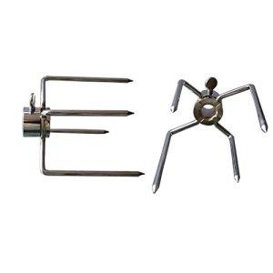 onlyfire lourds Duty viande Aiguilles pour le barbecue Brochettes à accrocher avec vis de, pour: env. brochettes de diamètre 1–13mm, lot de 2