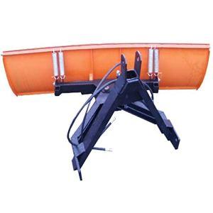 Pelle à neige hydraulique orientable pour tracteur Bulldog 200 x 57 cm, orange