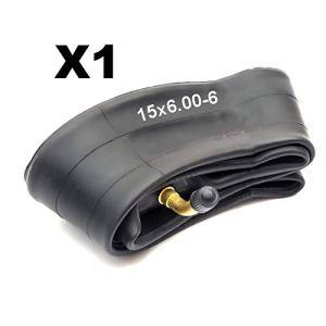 Petrolscooter 15×6.00-6 Chambre à air avec valve courbée pour tondeuse à gazon