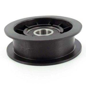 Poulie de traction à gorge plate sur roulement adaptable CASTELGARDEN et GGP pour machines SD98 et SD108. Remplace origine: 25601554/0 et 125601554/0. Ø: ext: 85,7mm, Ø int:17mm H: 27mm