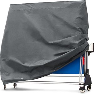 Purovi® Housse protectrice, couverture pour table de ping-pong en tissu Oxford   165 x 70 x 185 cm   Résistant à l'eau et aux rayons UV
