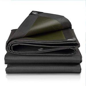 QHGao Noir Bâche De Protection Solaire Étanche,Robuste Polyvalent,Tissu Plastique Auvent en Toile Oxford,Épaississement De Chiffrement Et Anti-Vieillissement Durable,Une Variété De Tailles,10 * 20M