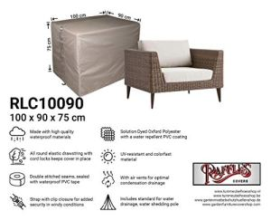 Raffles Covers NW-RLC10090straight Lounge Housse de protection pour fauteuil Lounge 100 x 90 x 75 cm