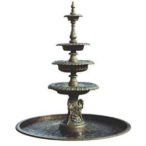 Rêve Fontaine cascade de jardin en fer forgé–Fons ferrum Marron