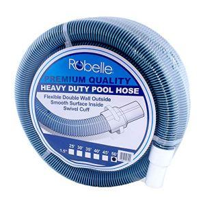 Robelle 520Premium Qualité Heavy Duty Tuyau de Piscine 50′ x 1-1/2″