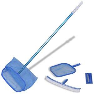 Tuduo Kit de Nettoyage pour Piscine avec 2 éponges à Feuilles et 1 bâton télescopique