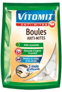 Vitomit – Boules Anti-Mites – Essentiel – 275 g – Lot de 2