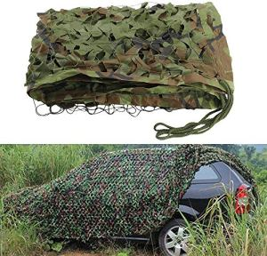 Woodland Camouflage Armée Camo Netting Net Camping Chasse Militaire Tir Filets Protection Solaire, Filet de Camouflage Camo Netting Oxford Chasse Tissu,6m * 100m
