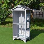 XUANLAN Extérieur Aviary Cage à Oiseaux en Bois Vertical Play House Balcon Birdcage Maison Villa Net antipluie Birdhouse Oiseaux crème Solaire Shelf Jardin