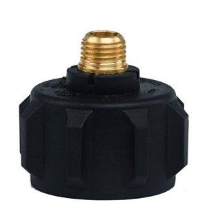 1/10,2cm Mnpt de chauffage au propane Grill Fumoir pièces Plastique + Métal Noir Bouteille de gaz Valve 1type 1LP gas Plug