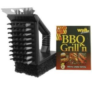 3en 1Compact barbecue Grattoir, brosse et brosse