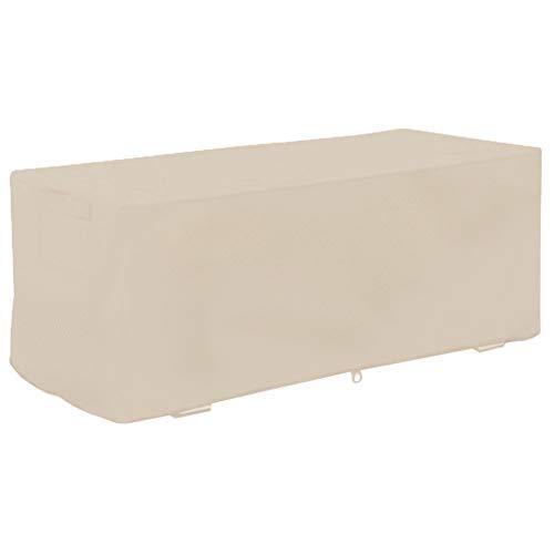 Atyhao Couvercle de Boîte de Pont – 123x62x55cm Jardin Étanche à l'épreuve UV Box Deck Cover Storage Box Housse de Protection(#2)